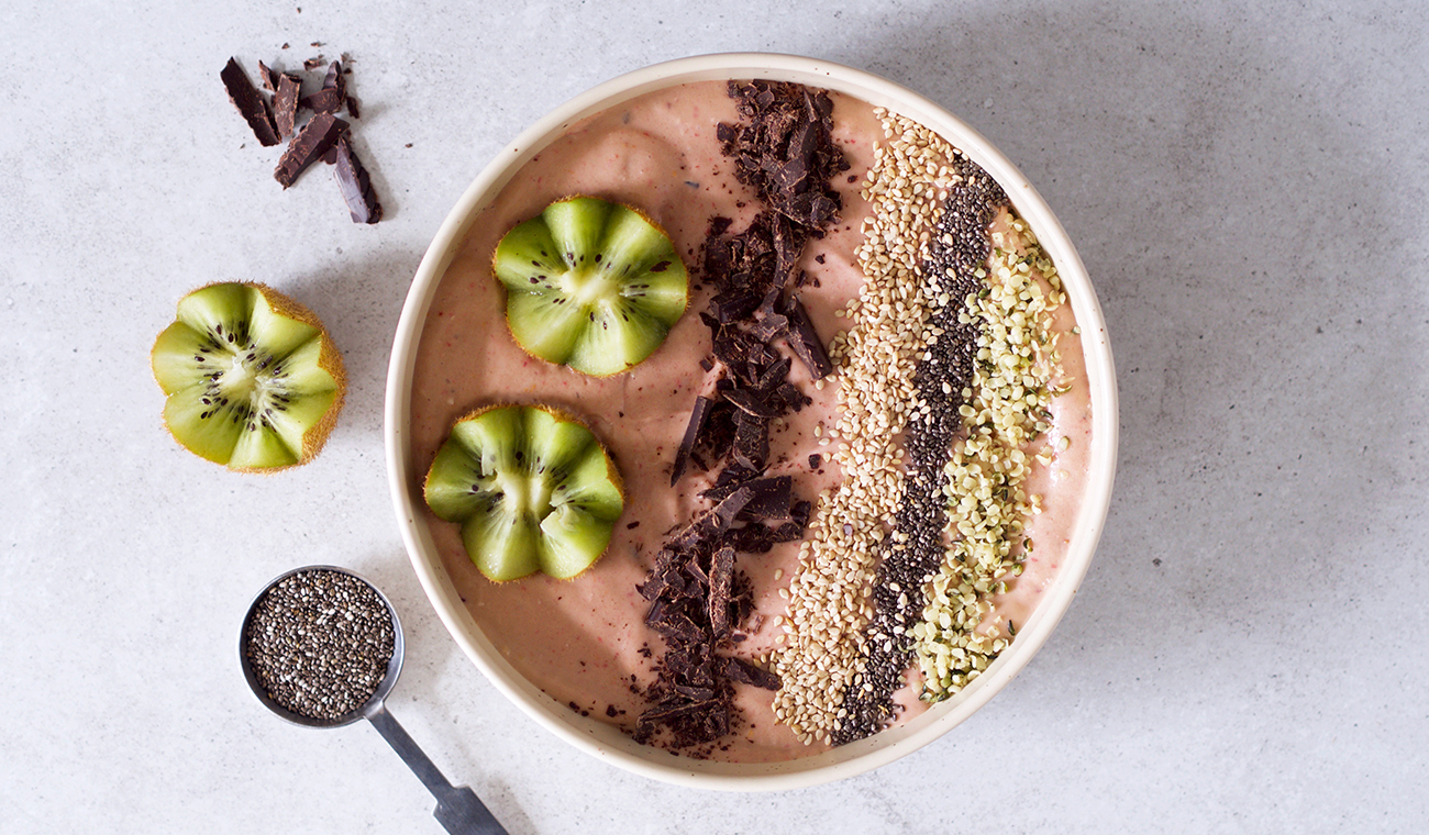 Hudkærlig Kost smoothie bowl