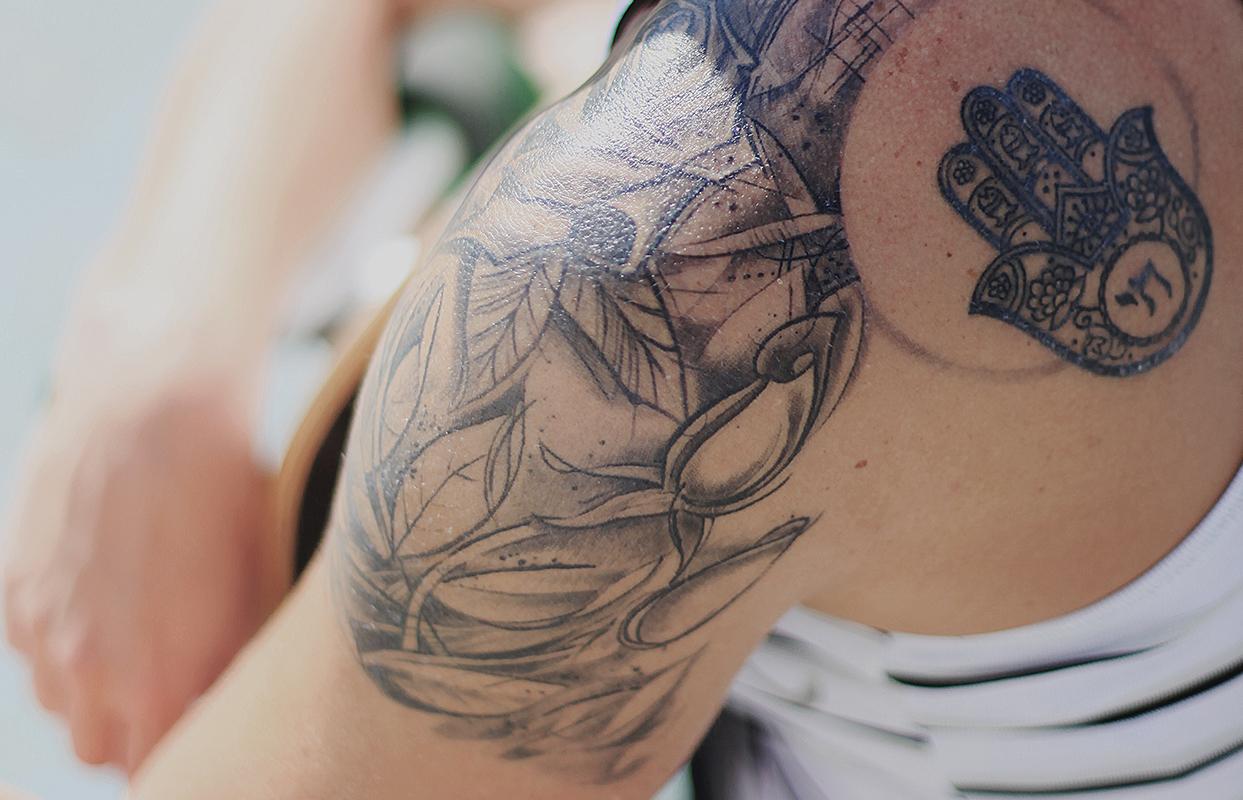 Pleje af ny tatovering